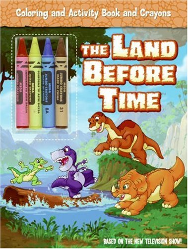 9780061347726: The Land Before Time: Coloring and Activity Book and Crayons (Land Before Time (Harperentertainment))