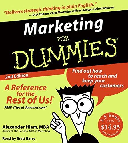 9780061374326: Marketing for Dummies 2nd Ed. CD