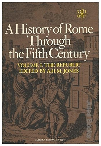 9780061388804: History of Rome Through the Fifth Century Volume 1: The Republic (Torchbooks)