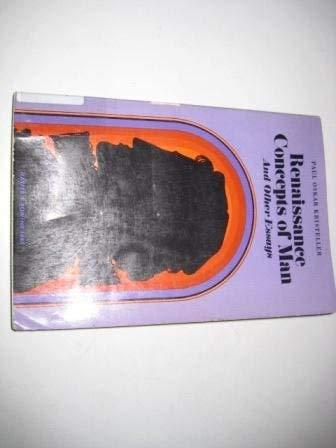 Renaissance concepts of man, and other essays (Harper torchbooks): Kristeller, Paul Oskar
