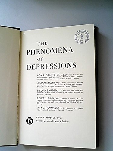 9780061410406: Phenomena of Depressions