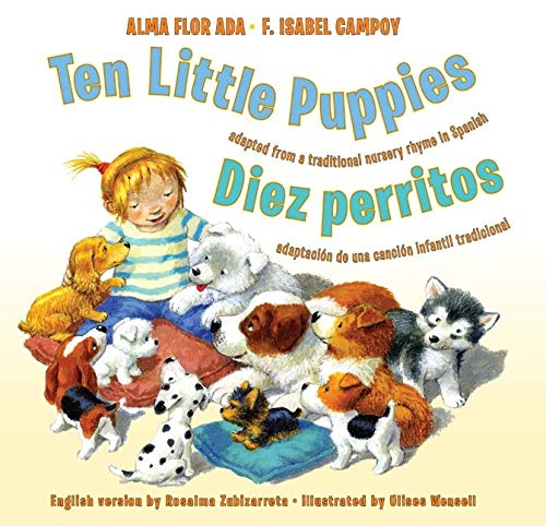 9780061470431: Ten Little Puppies/Diez perritos