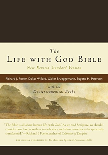 9780061627026: NRSV, The Life with God Bible, Compact, Italian Leather, Brown: with the Deuterocanonical Books (A Renovare Resource)