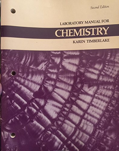 9780061634116: Laboratory manual for chemistry