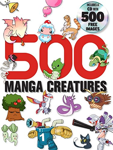 9780061650505: 500 Manga Creatures [With CDROM]