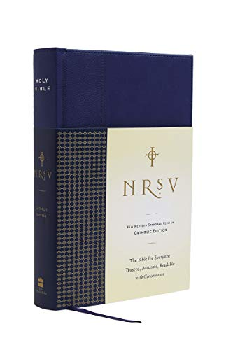 9780061689833: NRSV Standard Catholic Ed Bible Anglicized (navy/blue)