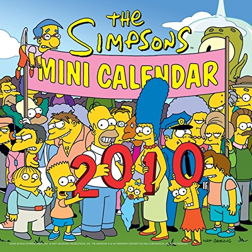 9780061691324: The Simpsons 2010 Mini Calendar