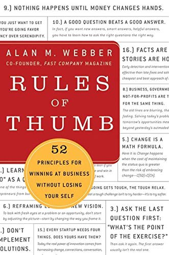 9780061721830: Rules of Thumb: 52 Principles for Winning at Business without Losing Your Self