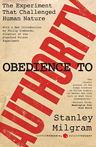 9780061765216: Obedience to Authority: An Experimental View.