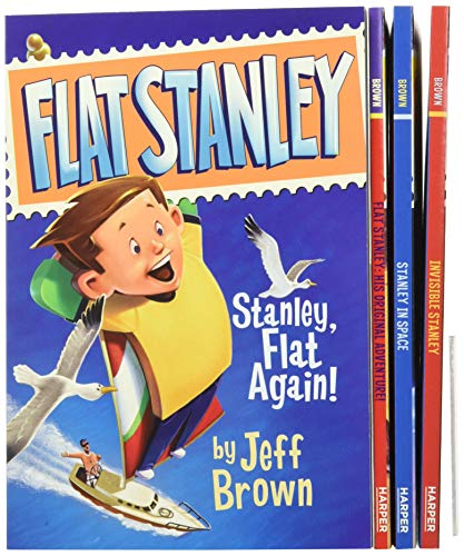 The Flat Stanley Collection Box Set: Flat Stanley, Invisible Stanley, Stanley in Space, and Stanley, Flat Again! (9780061802478) by Jeff Brown