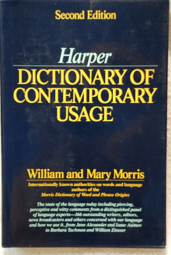 9780061816062: Harper Dictionary of Contemporary Usage