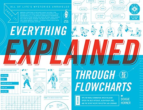 9780061826603: Everything Explained Through Flowcharts: All of Life's Mysteries Unraveled, Including Tips for World Domination, Which Religion Offers the Best ... the Secret Recipe for Gettin' Laid Lemonade