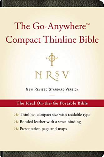 9780061827204: NRSV Go-Anywhere Compact Thinline Bible (Bonded Leather, Black)