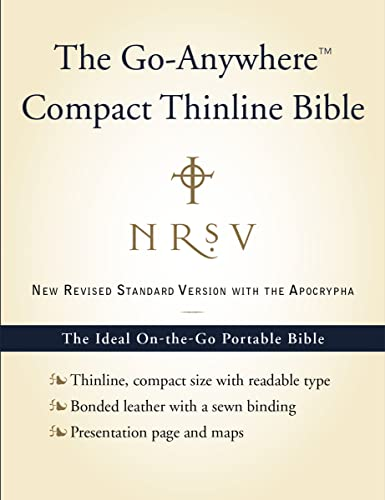 Go-Anywhere Compact Thinline Bible-NRSV-With Apocrypha: Harper Bibles