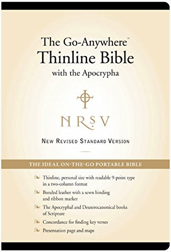 9780061979187: NRSV – The Go-Anywhere Thinline Bible with the Apocrypha [Bonded Leather, Black]