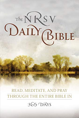 9780062008466: The NRSV Daily Bible: Read, Meditate, and Pray Through the Entire Bible in 365 Days