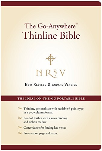 9780062026934: Holy Bible: New Revised Standard Version, Go-Anywhere, Bonded Leather, Burgundy, Thinline Bible