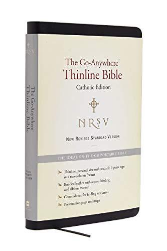 9780062048356: NRSV Go-Anywhere Thinline Bible Catholic Edition (Bonded Leather Black)