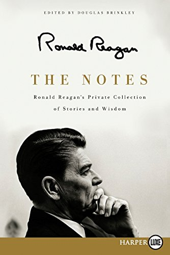 9780062066558: The Notes Large Print: Ronald Reagan's Private Collection of Stories andWisdom