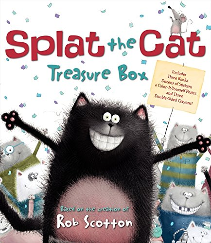 9780062100108: Splat the Cat Treasure Box [With Stickers and Poster and Crayons and 3 Paperbacks and Treasure Box]