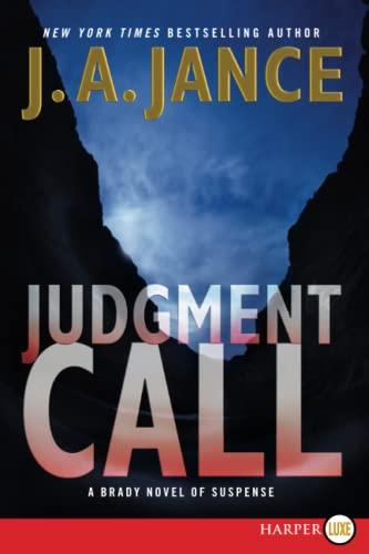 9780062128386: Judgment Call  Large Print : A Brady Novel of Suspense (Joanna Brady) (Joanna Brady Mysteries)