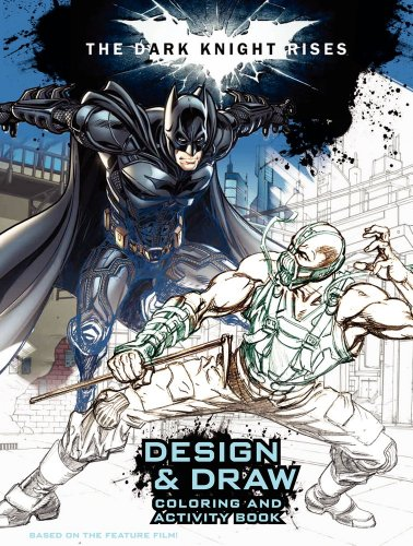 9780062132260: The Dark Knight Rises: Design and Draw: Coloring and Activity Book