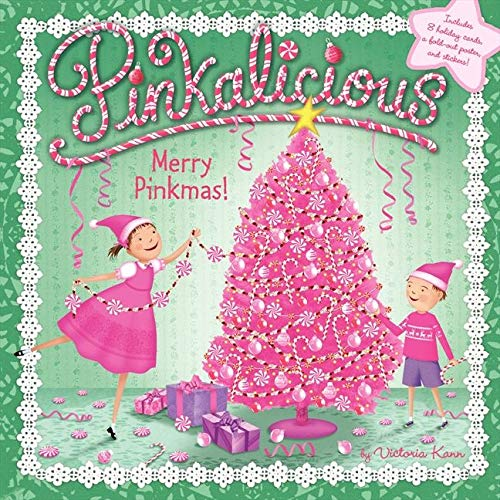 9780062189127: Merry Pinkmas! [With 8 Holiday Cards and Poster] (Pinkalicious)