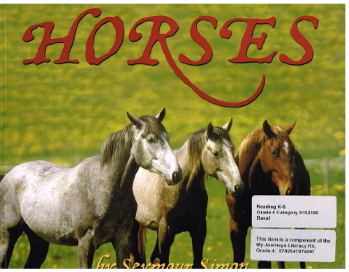 9780062203656: Houghton Mifflin Harcourt Journeys: Common Core Trade Book Grade 4 Horses, Seymour Simon