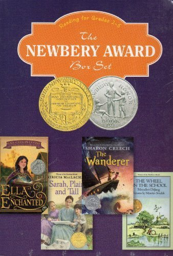 9780062228581: The Newbery Award Box Set - Reading for Grades 2-5. The Wheel on the School; The Wanderer; Sarah Plain and Tall; Ella Enchanted