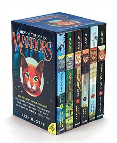 9780062268877: Warrior Cats Series 4: Omen of the Stars 6 Books Box Set Collection By Erin (The Fourth Apprentice, Fading Echoes, Night Whispers, Sign of the Moon, ... The Last Hope) (Warriors: Omen of the Stars)