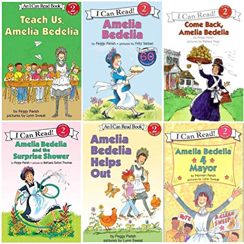 9780062274854: I Can Read Amelia Bedelia 50th Birthday 6 Pack Set, Level 2 (Amelia Bedelia, Amelia Bedelia Helps Out, Amelia Bedelia for Mayor, Come Back Amelia Bedelia, Amelia Bedelia and the Surprise Shower, Teach Us Amelia Bedelia)