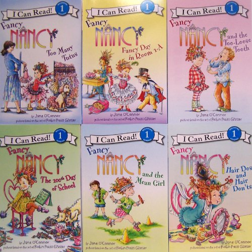 9780062291172: I Can Read Fancy Nancy - 6 Book Set (Too Many Tutus, Fancy Day in Room 1-A, The 100th Day of School, Hair Dos and Hair Dont's, Fancy Nancy an d the Too Loose Tooth, Fancy Nancy and the Mean Girl)