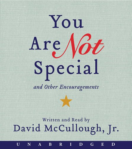 9780062338280: You Are Not Special CD: ...And Other Encouragements