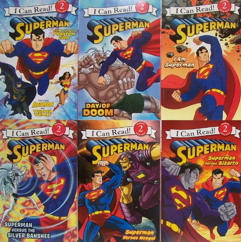 9780062347237: I Can Read Superman - 6 Book Set Escape From the Phantom Zone, Day of Doom, I Am Superman, Superman Versus Bizarro, Superman Versus Mongul, Supman Versus the Silver Banshee