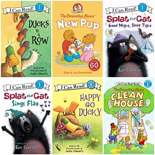 9780062347381: I Can Read Beginning Reader Six Book Set - Splat the Cat, Berenstain Bears, Ducks in a Row and Happy Go Ducky