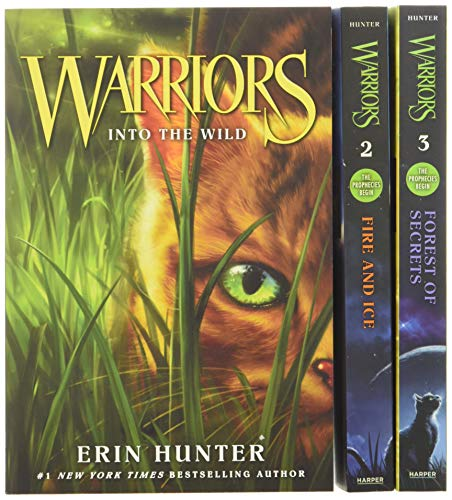 9780062373298: Warriors Box Set: Volumes 1 to 3: Into the Wild, Fire and Ice, Forest of Secrets