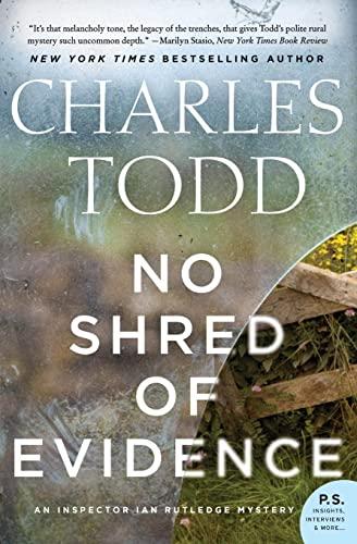 9780062386199: No Shred of Evidence: An Inspector Ian Rutledge Mystery (Inspector Ian Rutledge Mysteries)