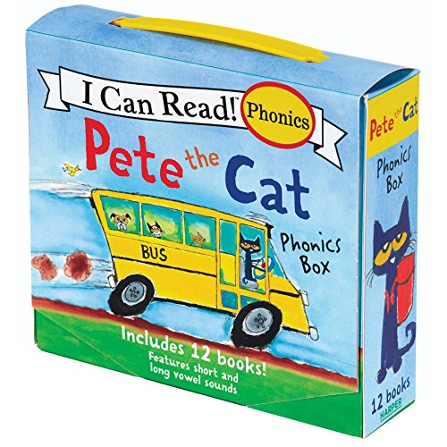 9780062404527: Pete the Cat Phonics Box: Includes 12 Mini-books Featuring Short and Long Vowel Sounds
