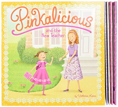 9780062410801: The Pinkalicious Take-Along Storybook Set: Tickled Pink, Pinkalicious and the Pink Drink, Flower Girl, Crazy Hair Day, Pinkalicious and the New Teacher
