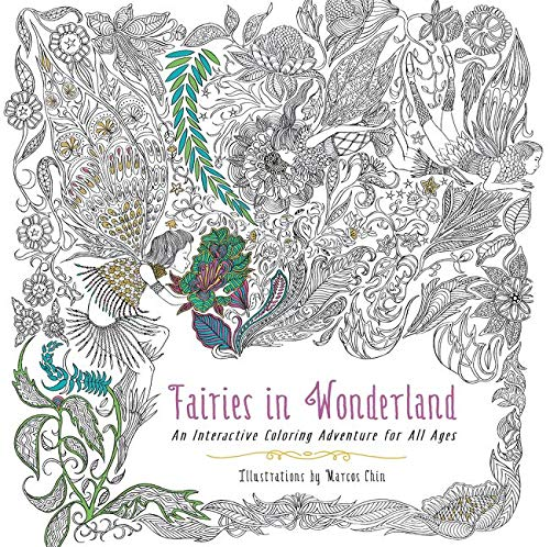 9780062419989: Fairies in Wonderland: An Interactive Coloring Adventure for All Ages
