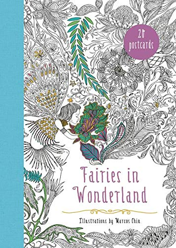 9780062466235: Fairies in Wonderland 20 Postcards: An Interactive Coloring Adventure for All Ages