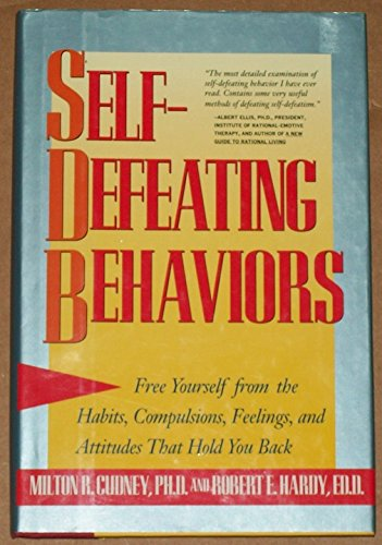 self defeating behaviors Buy self-defeating behaviors: free yourself from the habits, compulsions, feelings, and attitudes that hold you back by milton r cudney, robert e hardy (isbn: 9780062501974) from amazon's book store everyday low prices and free delivery on eligible orders.