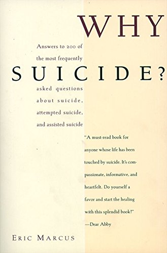 Why Suicide? (0062511661) by Eric Marcus