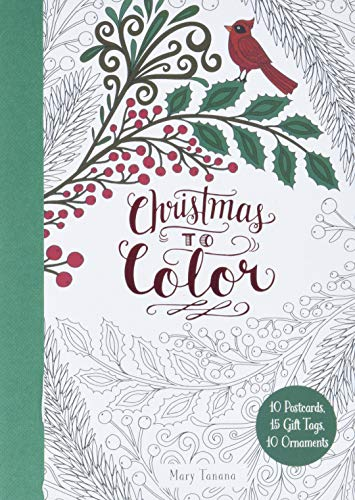 Christmas To Color: 10 Postcards, 15 Gift Tags, 10 Ornaments 9780062567277 Step into a wintry wonderland with these 10 postcards, 15 cut-out gift tags, and 10 cut-out ornaments to color! This perfect stocking st
