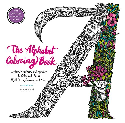 9780062573582: The Alphabet Coloring Book: Letters, Numbers, and Symbols to Color and Use as Wall Decor, Signage, and More