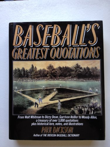 9780062700018: Baseball's greatest quotations