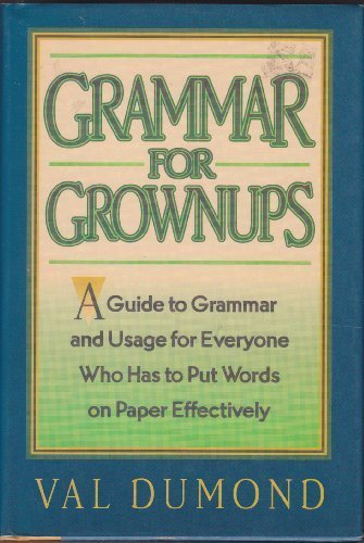 9780062700544: Grammar for grownups