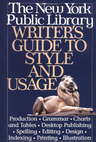 9780062700643: New York Public Library Writer's Guide to Style and Usage