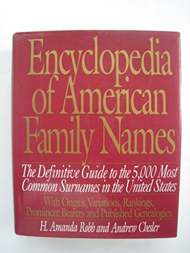 9780062700759: Encyclopedia of American Family Names