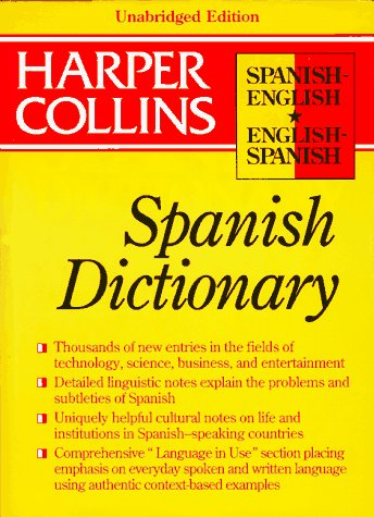 9780062702074: Harpercollins Unabridged Spanish Dictionary